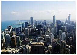 Summer Haze Over Chicago's Loop